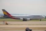 セブンさんが、台湾桃園国際空港で撮影したアシアナ航空 747-48Eの航空フォト(写真)
