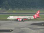 くろぼしさんが、シンガポール・チャンギ国際空港で撮影したエアアジア A320-216の航空フォト(飛行機 写真・画像)