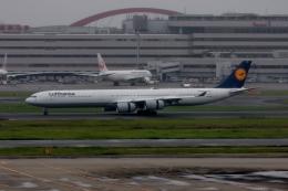 ぷぅぷぅまるさんが、羽田空港で撮影したルフトハンザドイツ航空 A340-642の航空フォト(飛行機 写真・画像)