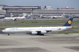 Mt.Fujiさんが、羽田空港で撮影したルフトハンザドイツ航空 A340-642の航空フォト(飛行機 写真・画像)
