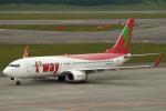 セブンさんが、新千歳空港で撮影したティーウェイ航空 737-83Nの航空フォト(飛行機 写真・画像)