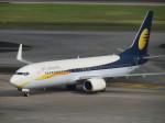 くろぼしさんが、シンガポール・チャンギ国際空港で撮影したジェットエアウェイズ 737-8ALの航空フォト(写真)