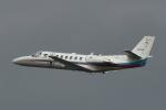 めしやさんが、羽田空港で撮影した朝日新聞社 560 Citation Encoreの航空フォト(写真)