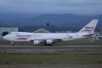 もにーさんが、小松空港で撮影したシルクウェイ・ウェスト・エアラインズ 747-4H6F/SCDの航空フォト(飛行機 写真・画像)