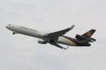 幹ポタさんが、関西国際空港で撮影したUPS航空 MD-11Fの航空フォト(写真)