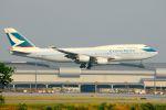 まいけるさんが、スワンナプーム国際空港で撮影したキャセイパシフィック航空 747-467の航空フォト(写真)