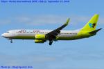 Chofu Spotter Ariaさんが、成田国際空港で撮影したジンエアー 737-8Q8の航空フォト(飛行機 写真・画像)