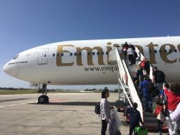 平凡フライヤーさんが、マルタ国際空港で撮影したエミレーツ航空 777-36N/ERの航空フォト(飛行機 写真・画像)