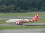くろぼしさんが、シンガポール・チャンギ国際空港で撮影したエアアジア・インドネシア A320-216の航空フォト(写真)