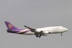 だいすけさんが、スワンナプーム国際空港で撮影したタイ国際航空 747-4D7の航空フォト(写真)