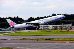 まいけるさんが、成田国際空港で撮影したチャイナエアライン A330-302の航空フォト(写真)