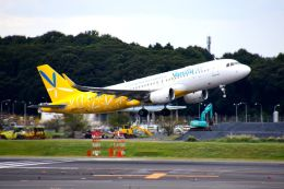 まいけるさんが、成田国際空港で撮影したバニラエア A320-214の航空フォト(写真)