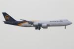 たみぃさんが、香港国際空港で撮影したUPS航空 747-8Fの航空フォト(写真)