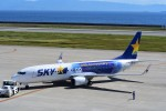T.Sazenさんが、神戸空港で撮影したスカイマーク 737-81Dの航空フォト(飛行機 写真・画像)