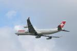 ゆなりあさんが、成田国際空港で撮影したスイスインターナショナルエアラインズ A340-313Xの航空フォト(写真)