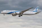 Tomo-Papaさんが、ロンドン・ヒースロー空港で撮影したエル・アル航空 787-9の航空フォト(写真)