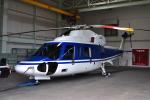 ピリンダさんが、静岡ヘリポートで撮影した日本法人所有 S-76Cの航空フォト(写真)