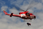 ピリンダさんが、静岡ヘリポートで撮影した静岡市消防航空隊 412EPの航空フォト(写真)