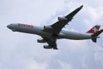 rokko2000さんが、成田国際空港で撮影したスイスインターナショナルエアラインズ A340-313Xの航空フォト(写真)