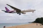 まえこーさんが、プーケット国際空港で撮影したタイ国際航空 777-2D7の航空フォト(写真)