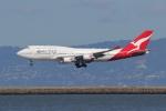 sumihan_2010さんが、サンフランシスコ国際空港で撮影したカンタス航空 747-438/ERの航空フォト(写真)