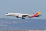 sumihan_2010さんが、サンフランシスコ国際空港で撮影したアシアナ航空 A350-941XWBの航空フォト(写真)