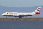 sumihan_2010さんが、サンフランシスコ国際空港で撮影したブリティッシュ・エアウェイズ 747-436の航空フォト(写真)