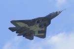 ちゃぽんさんが、ジュコーフスキー空港で撮影したロシア空軍 Sukhoi T-50の航空フォト(飛行機 写真・画像)