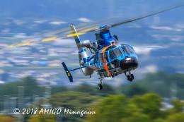 アミーゴさんが、松本空港で撮影した長野県警察 AS365N3 Dauphin 2の航空フォト(飛行機 写真・画像)