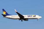 funi9280さんが、新千歳空港で撮影したスカイマーク 737-8FZの航空フォト(飛行機 写真・画像)