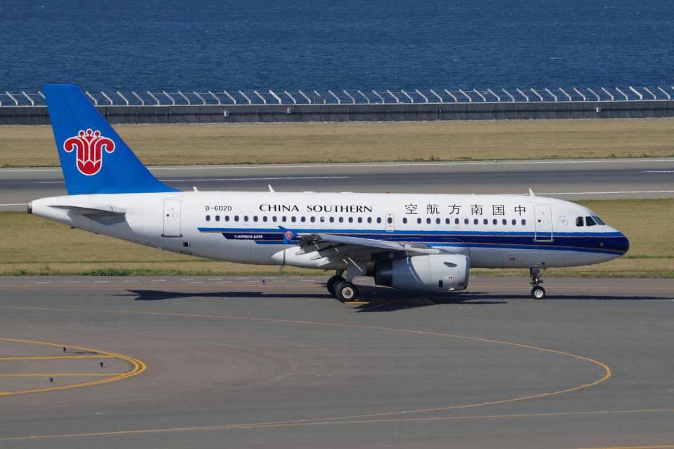 yabyanさんの中国南方航空 Airbus A319 (B-6020) 航空フォト