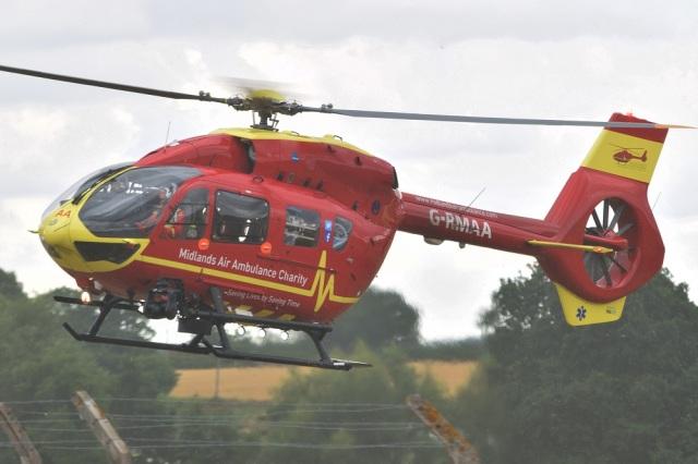 MOR1(新アカウント)さんが、コスフォード空軍基地で撮影したMidlands Air Ambulance Charity EC145T2の航空フォト(飛行機 写真・画像)