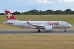 MOR1(新アカウント)さんが、バーミンガム国際空港で撮影したスイスインターナショナルエアラインズ BD-500-1A10 CSeries CS100の航空フォト(写真)