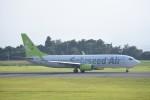 kumagorouさんが、鹿児島空港で撮影したソラシド エア 737-86Nの航空フォト(飛行機 写真・画像)