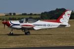MOR1(新アカウント)さんが、ダックスフォード飛行場で撮影したスイス個人所有 SF.260Dの航空フォト(写真)