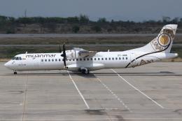kinsanさんが、マンダレー国際空港で撮影したミャンマー・ナショナル・エアウェイズ ATR-72-600の航空フォト(飛行機 写真・画像)