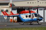 Chofu Spotter Ariaさんが、東京ヘリポートで撮影した川崎市消防航空隊 BK117B-2の航空フォト(飛行機 写真・画像)