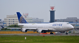 simokさんが、成田国際空港で撮影したユナイテッド航空 747-422の航空フォト(飛行機 写真・画像)