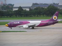 もんがーさんが、ドンムアン空港で撮影したノックエア 737-4D7の航空フォト(飛行機 写真・画像)