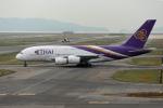 takepapaさんが、関西国際空港で撮影したタイ国際航空 A380-841の航空フォト(飛行機 写真・画像)