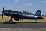 MOR1(新アカウント)さんが、ダックスフォード飛行場で撮影したAJBS Les Casques de Cuir F4U-5NL Corsairの航空フォト(写真)