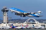 LAX Spotterさんが、ロサンゼルス国際空港で撮影したKLMオランダ航空 747-406の航空フォト(写真)
