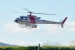 パンダさんが、花巻空港で撮影した朝日航洋 AS350B3の航空フォト(飛行機 写真・画像)