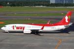 セブンさんが、新千歳空港で撮影したティーウェイ航空 737-8ALの航空フォト(飛行機 写真・画像)