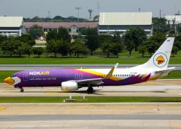 Bokuranさんが、ドンムアン空港で撮影したノックエア 737-8ASの航空フォト(飛行機 写真・画像)