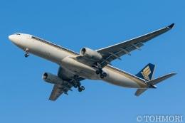 遠森一郎さんが、福岡空港で撮影したシンガポール航空 A330-343Xの航空フォト(飛行機 写真・画像)