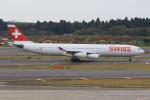 みるぽんたさんが、成田国際空港で撮影したスイスインターナショナルエアラインズ A340-313Xの航空フォト(写真)
