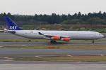 みるぽんたさんが、成田国際空港で撮影したスカンジナビア航空 A340-313Xの航空フォト(写真)