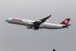 sin747さんが、成田国際空港で撮影したスイスインターナショナルエアラインズ A340-313Xの航空フォト(写真)