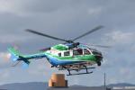 蒼い鳩さんが、福井空港で撮影した兵庫県消防防災航空隊 BK117C-2の航空フォト(写真)